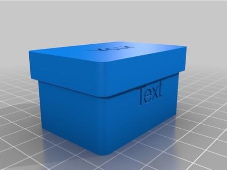 Detalle caja personalizable de Sergio González