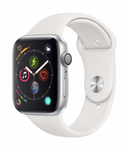 Apple Watch Series 4 (GPS, 44mm) Aluminio en Plata - Correa Deportiva Blanco