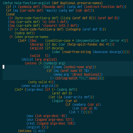 Resaltado de bloques de Lisp con rainbow-blocks