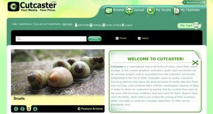 Cutcaster, plataforma de compra-venta de creaciones audiovisuales