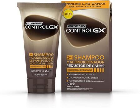 Just For Men Control Gx Champu Acondicionador Reduce Las Canas Gradualmente Resultado Natural 147ml