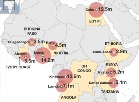 El crecimiento de las ciudades en Africa se triplicará