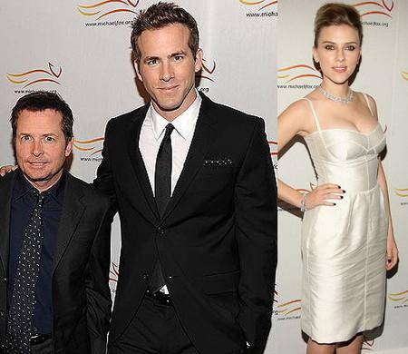 Scarlett Johansson y Ryan Reynolds, de fiesta, pero sin mezclarse