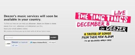 Deezer estrenará su servicio en España el próximo martes 13 de diciembre