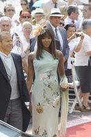 El look de Naomi Campbell en la Boda Real en Mónaco