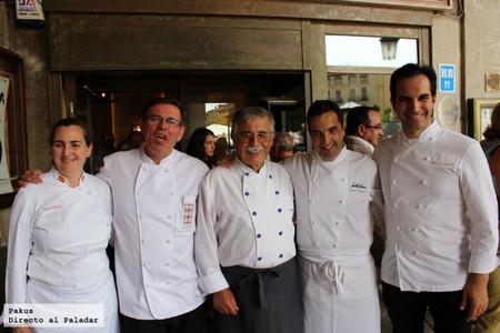 Reunión de cinco grandes chefs en la presentación del nuevo restaurante Julián Duque en Segovia