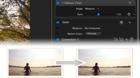 Fisheye Fixer for GoPro, plugin para FCPX que corrige el efecto ojo de pez en los vídeos