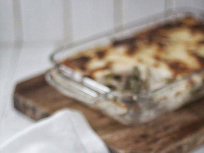 La receta más original de lasaña con brócoli, nueces y ricotta