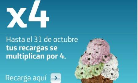 Tu recarga en Movistar se multiplica por cuatro
