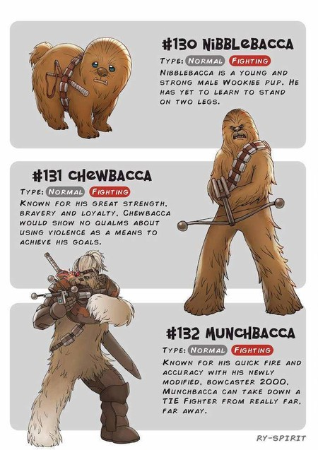Pokemon Star Wars Chewbacca