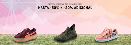 Temporada de festivales en Puma: calzado con hasta un 50% de descuento + 20% adicional