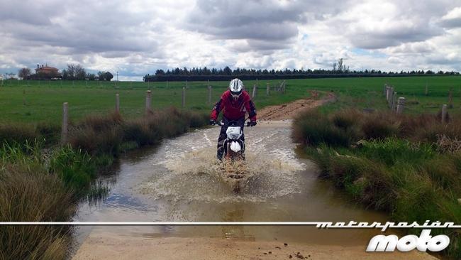 Albi, camino inundado.