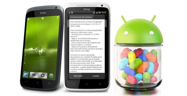HTC OneX actualiza a Jelly Bean 4.1.1