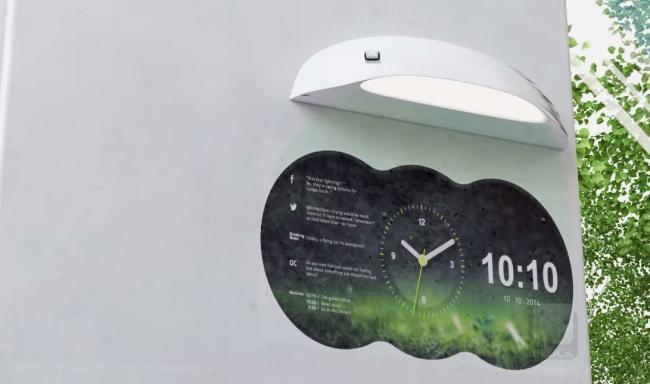 Los relojes de pared tradicionales ya tienen competidor: Coolest Clock proyecta la hora y mucho más
