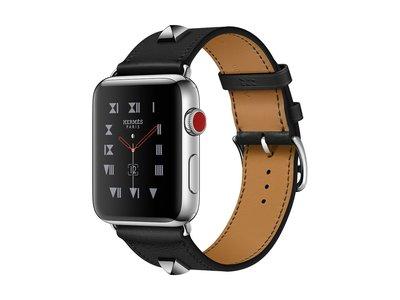 Apple revive las tachuelas de los años 80 con su nueva correa para Apple Watch de Hermès