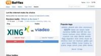 VersusBattles, enfrentando dos vídeos, imágenes o sitios web para su votación