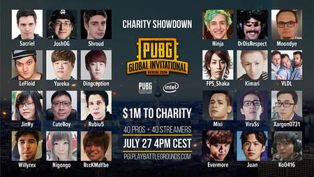 PGI Charity Showdown: El torneo benéfico de PUBG que contará con ElRubius, Ninja y Willyrex entre otros