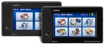 Navegadores Sanyo NVM-4070 y NVM-4050