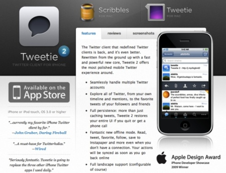 Tweetie 2 para iPhone