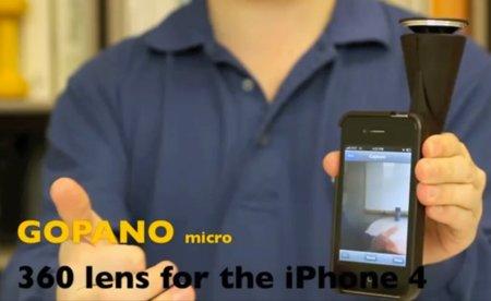 GoPano micro captura vídeos de 360 grados con la cámara de un iPhone 4