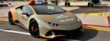 El aeropuerto de Bolonia estrena deportivo italiano, un Laborghini Huracan Evo es el nuevo auto guía