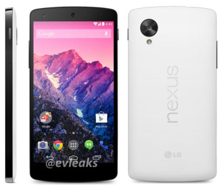 Nexus 5, ahora en blanco.