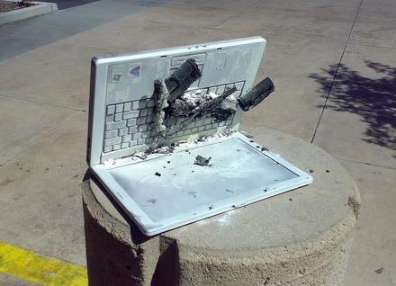 Batería Dell que explota en Yahoo