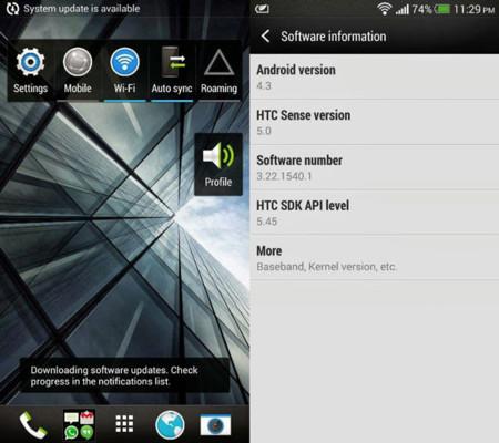 HTC One ya tiene Android 4.3