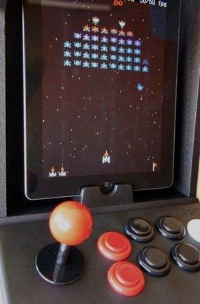 Jugando al Galaxians en iCade, una pasada