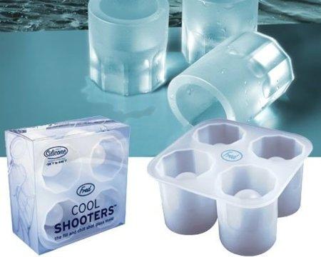 Cool Shooters, moldes para hacer vasos de hielo para chupitos