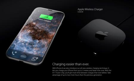 Concepto Iphone 8 Cargador
