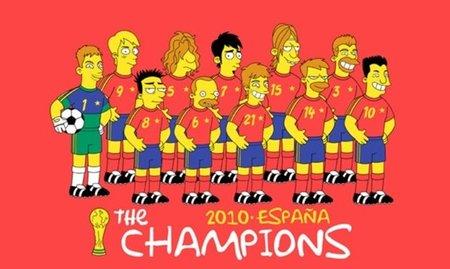 La Selección Española al estilo Simpson, la imagen de la semana