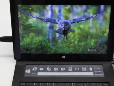 DisplayCover es el teclado físico con panel de e-ink que tu Surface estaba esperando