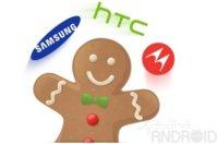 Gingerbread llega al Samsung Galaxy S, HTC ThunderBolt y Motorola Atrix