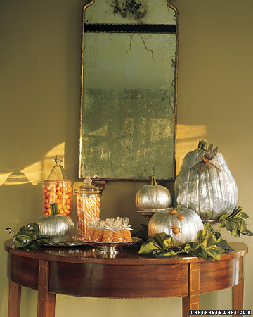 Decorar en Halloween: en oro y plata