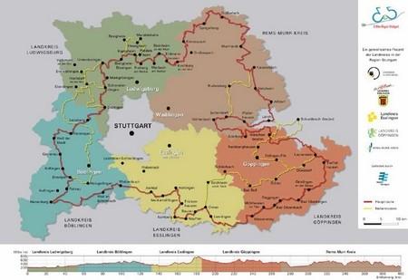 La región de Stuttgart, Alemania, crea una ruta de 400 km para bicicletas eléctricas