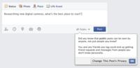 Los adolescentes ya pueden escribir textos públicos en Facebook