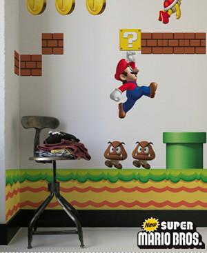 Nintendo Wall Graphics, pegatinas de Mario para tu pared