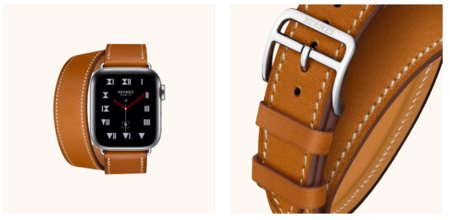 Apple Watch Hermes Fauve Barenia Leather Doble