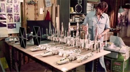 Así eran las maquetas con las que se hizo la trilogía original de Star Wars