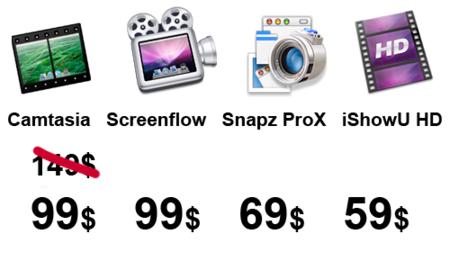 Precios aplicaciones para realizar screencast