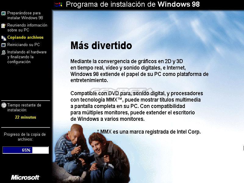 Foto de Programa de instalación de Windows 98 (6/10)