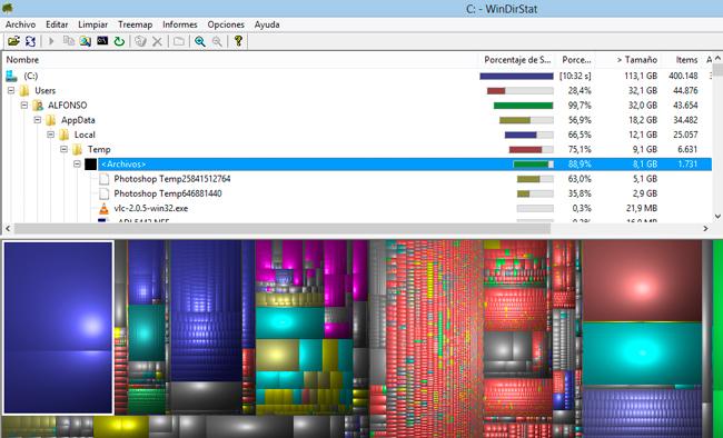 Truco Express: Optimizando nuestro disco duro con la ayuda de WinDirStat