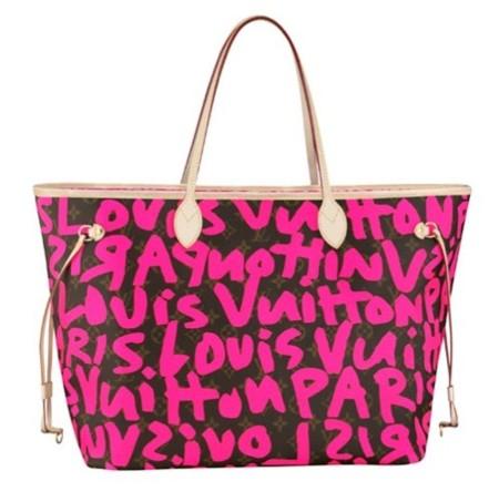 Louis Vuitton homenajea a Stephen Sprouse en su nueva colección, bolso graffiti