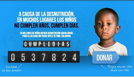 Cumpledías: campaña de Unicef contra la desnutrición infantil