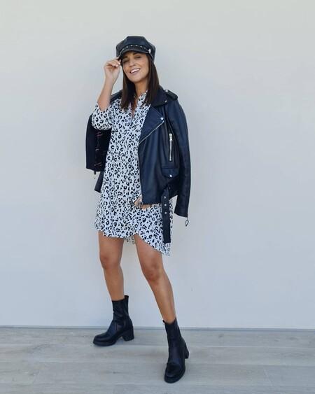 Tenemos todas las piezas del último look de Paula Echevarría con vestido 'animal print'
