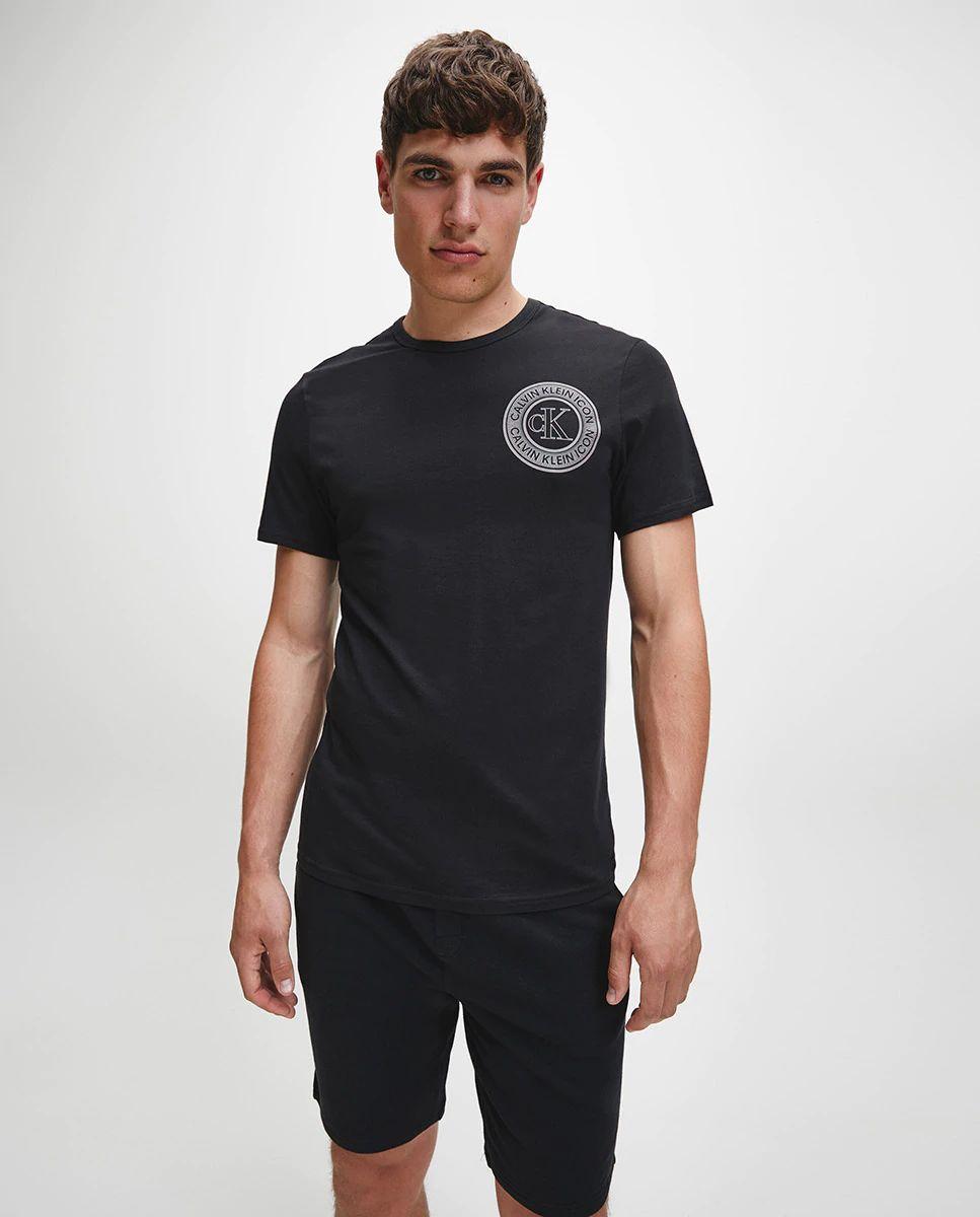 Camiseta homewear de hombre negra de manga corta de Calvin Klein