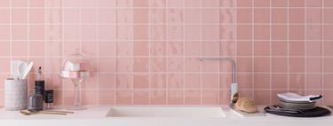 Son tendencia: Nos gustan los baños y las cocinas brillantes y con color