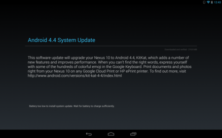 Disponible Android 4.4 KitKat para Nexus 10