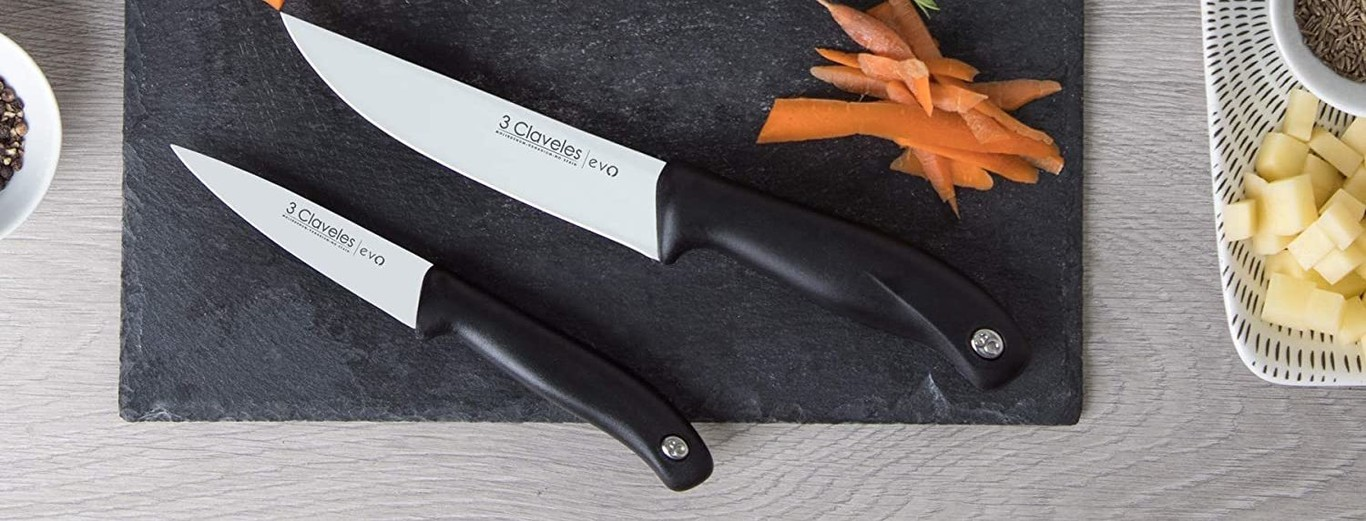 3,5 pulgadas 9 cm Cuchillo para verduras 3Claveles Evo